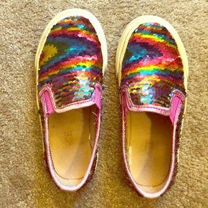 Colorful flippie girls slip on tennis shoe size 11